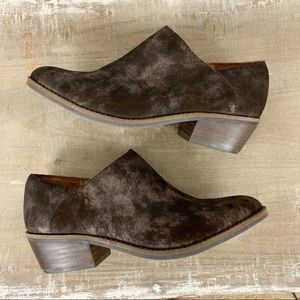 Lucky Brand Distressed Suede Ferryn Ankle Bootie